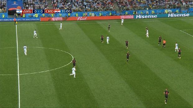 Luca Modric menempel Messi, bergantian dengan gelandang Kroasia lainnya