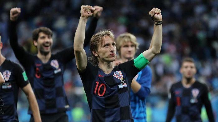 Luka Modric mengingatkan Kroasia agar tak terlalu berlebihan merayakan kemenangan atas Argentina (Foto: Ivan Alvarado/Reuters)
