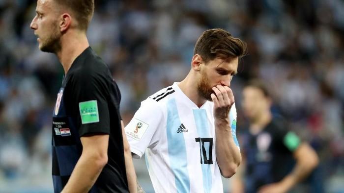 Jorge Sampaoli melalukan blunder saat Argentina tumbang di tangan Kroasia (Lucy Nicholson/Reuters)