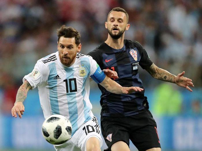 Argentina vs Kroasia masih sama kuat 0-0 di babak pertama. (Foto: Ivan Alvarado/Reuters)