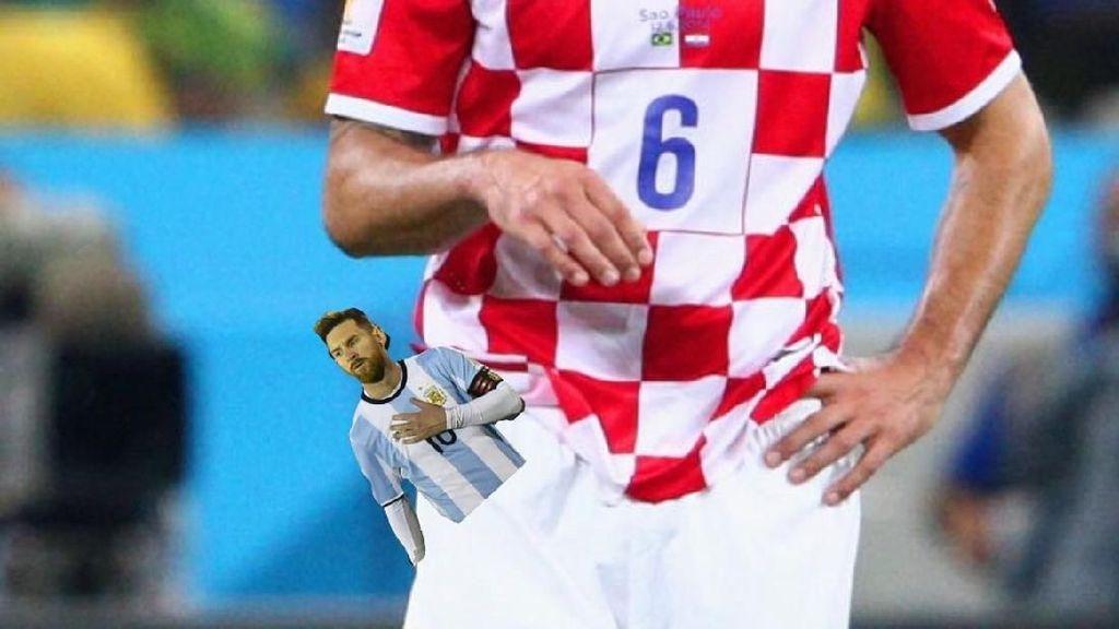 Meme Kocak untuk Messi Usai Argentina Dibenamkan Kroasia