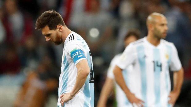 Lionel Messi mati kutu di pertandingan dengan Kroasia