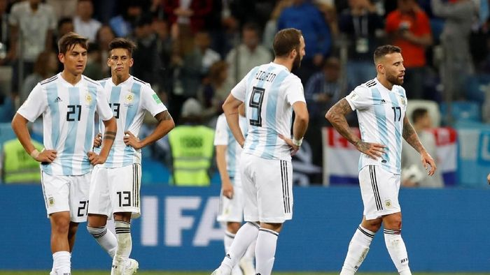 Performa Argentina disebut memalukan ketika dilumat Kroasia 0-3 (Foto: Carlos Barria/Reuters)
