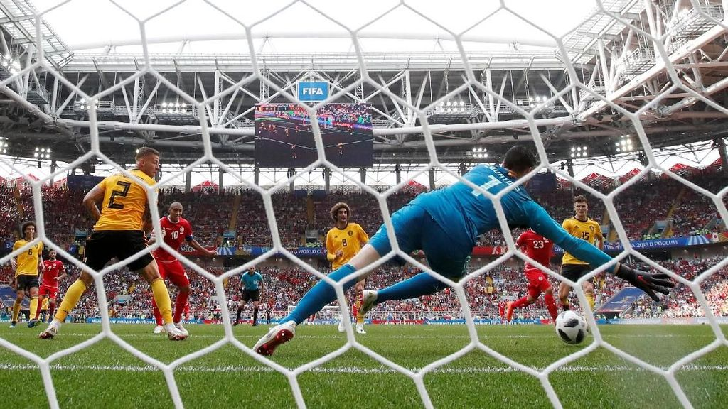 Video Rentetan 7 Gol di Laga Belgia Vs Tunisia