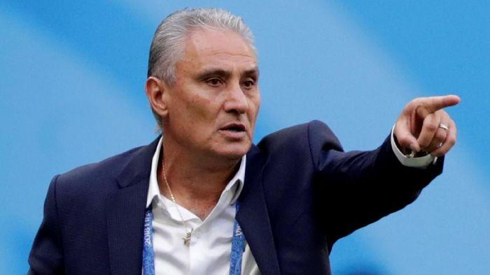 Pelatih timnas Brasil, Tite. (Foto: Henry Romero/Reuters)