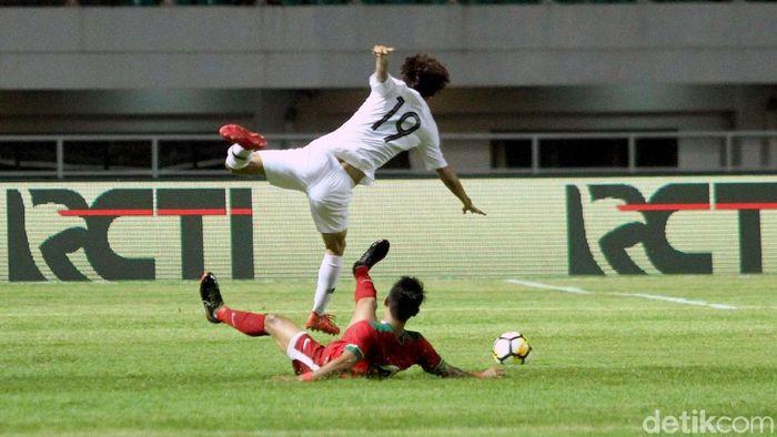 Indonesia dikalahkan Korea Selatan 1-2 dalam pertandingan uji coba. (Foto: Rifkianto Nugroho)
