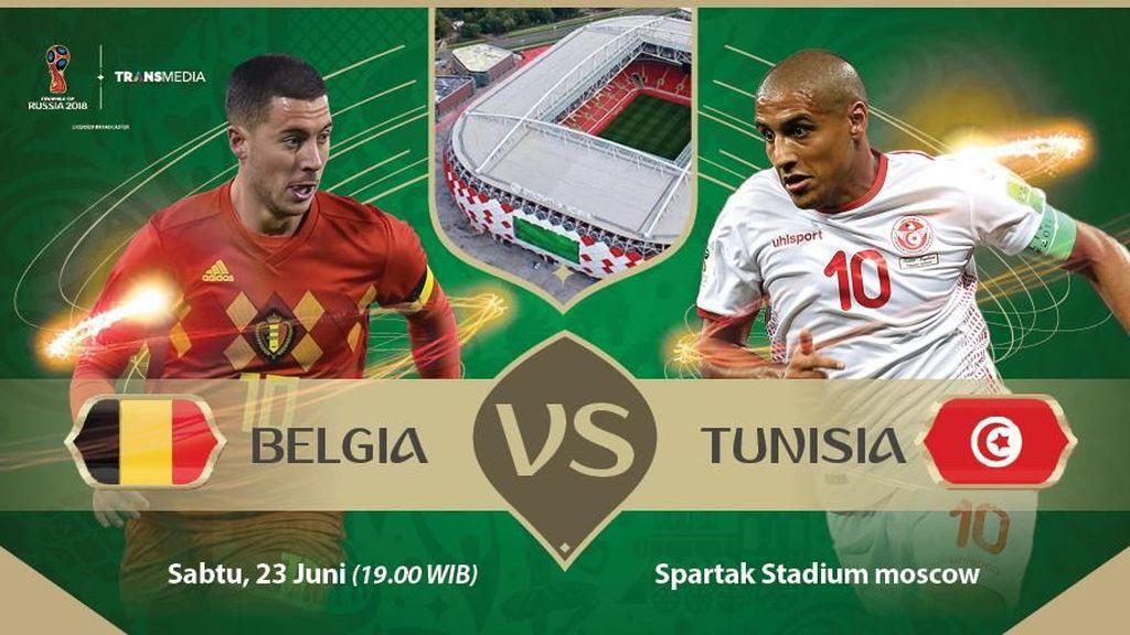 Live Report Piala Dunia 2018: Belgia vs Tunisia