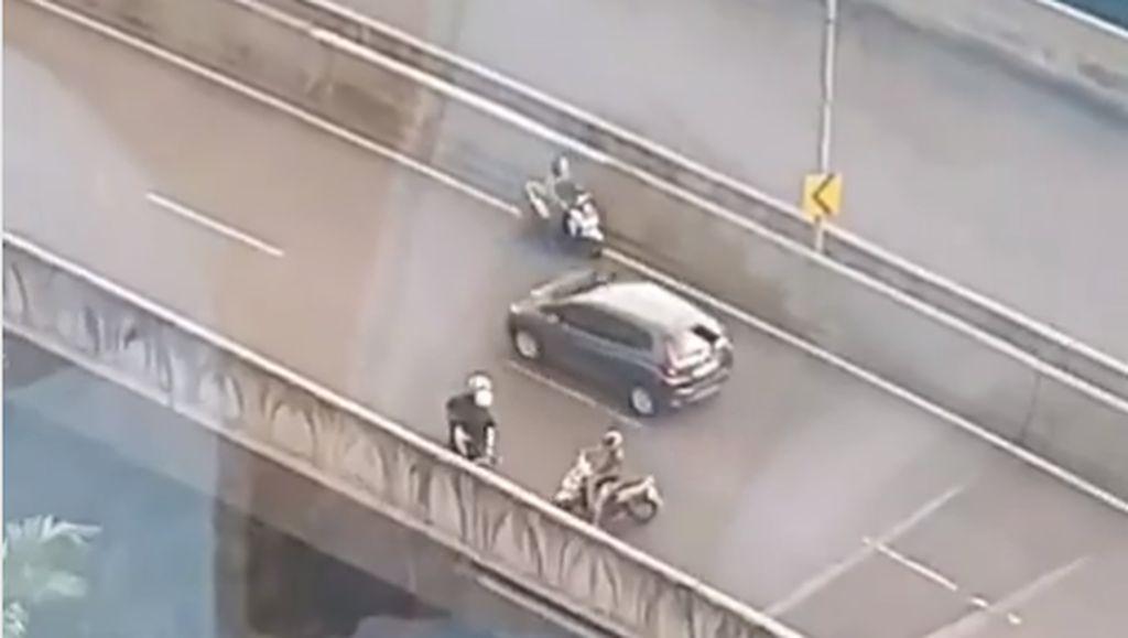 Ada Razia di Jalan Layang Non-tol, Gerombolan Pemotor Lawan Arah