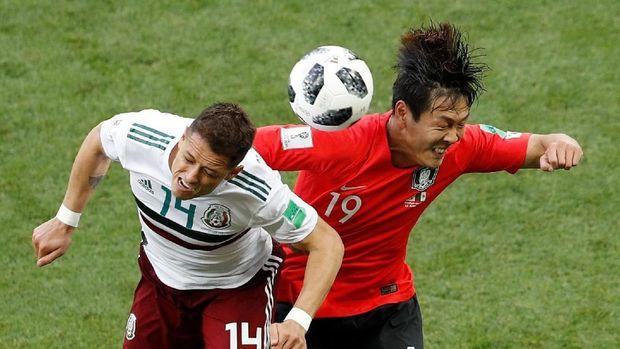 Javier Hernandez sudah mencetak satu gol dan satu assist di Piala Dunia 2018. (