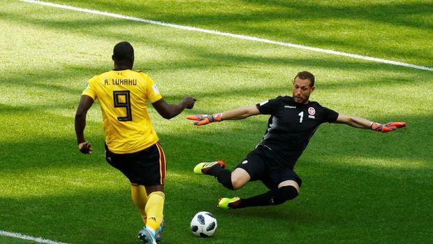 Romelu Lukaku sukses mencetak gol kedua Belgia.