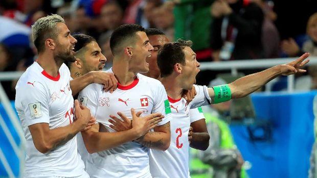 Swiss berpeluang melaju ke fase gugur Piala Dunia 2018.