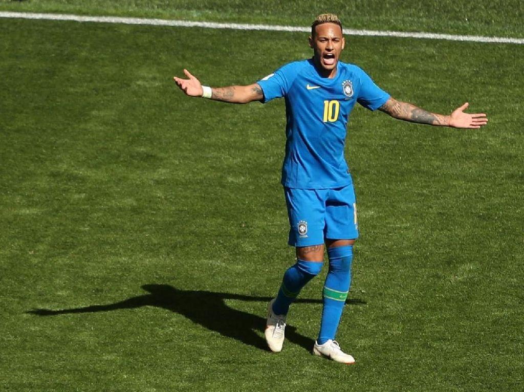 Neymar Vs Kosta Rika: Diving, Ribut dengan Wasit, dan Tangis Bahagia