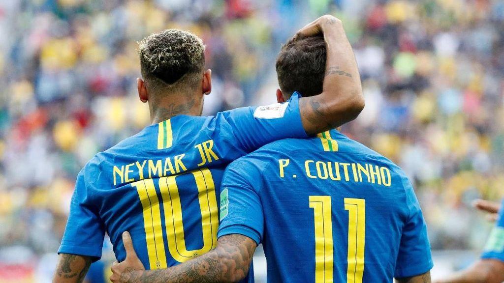 Dua Gol Dramatis Brasil yang Hantam Kosta Rika