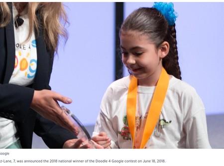 Kisah Coretan Bocah Kelas 1 SD yang Memenangkan Kontes dari Google/ Foto: Istimewa