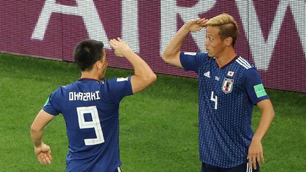 Keisuke Honda jadi penyelemat wajah Jepang dari kekalahan.