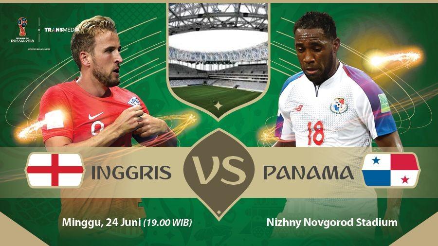 Live Report Piala Dunia 2018: Inggris vs Panama