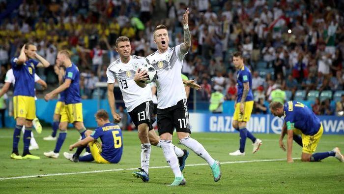 Jerman dituduh mengejek Swedia usai menang dramatis 2-1. (Foto: Francois Lenoir/Reuters)
