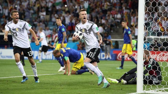 Jerman menang 2-1 atas Swedia dan menjaga peluang lolos ke fase gugur Piala Dunia 2018. (Foto: Francois Lenoir/Reuters)