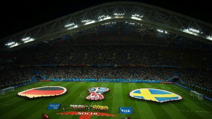 Jerman menghadapi Swedia pada pertandingan Grup F di Fisht Olympic Stadium, Sochi, Minggu (25/6/2018) dinihari WIB. Foto: Hannah McKay/Reuters