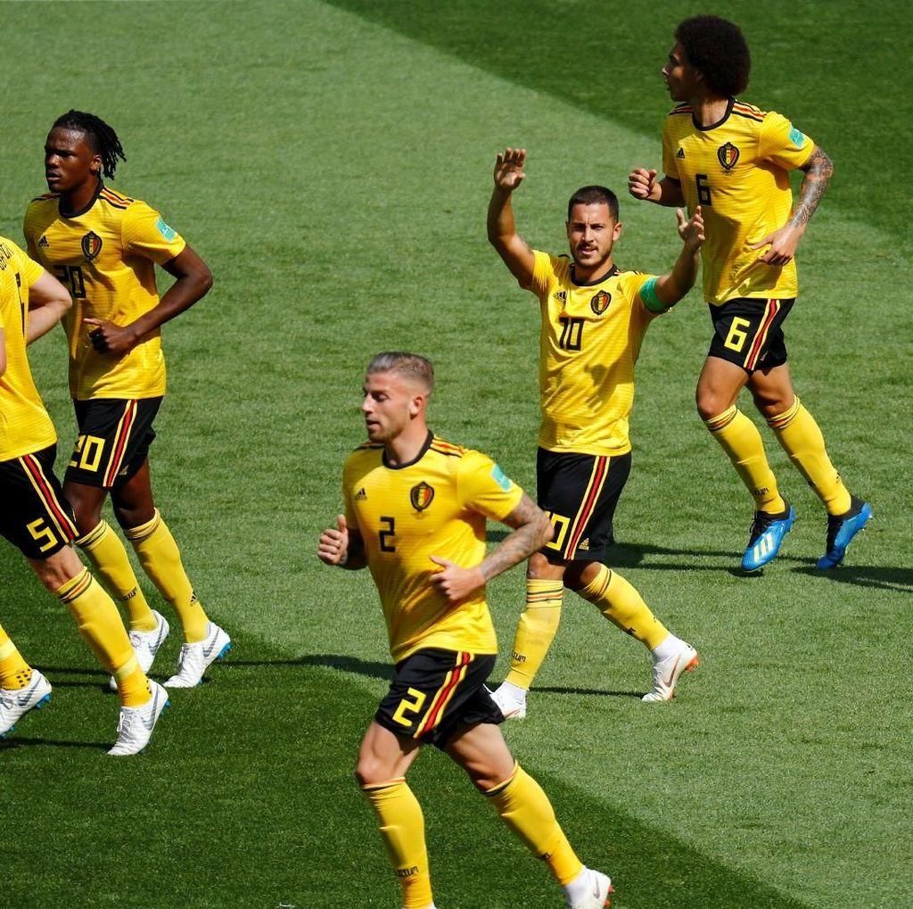 Hasil Pertandingan Piala Dunia 2018: Belgia vs Tunisia Skor 5-2