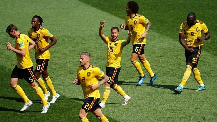 Belgia mengalahkan Tunisia 5-2. (Foto: Kai Pfaffenbach/Reuters)