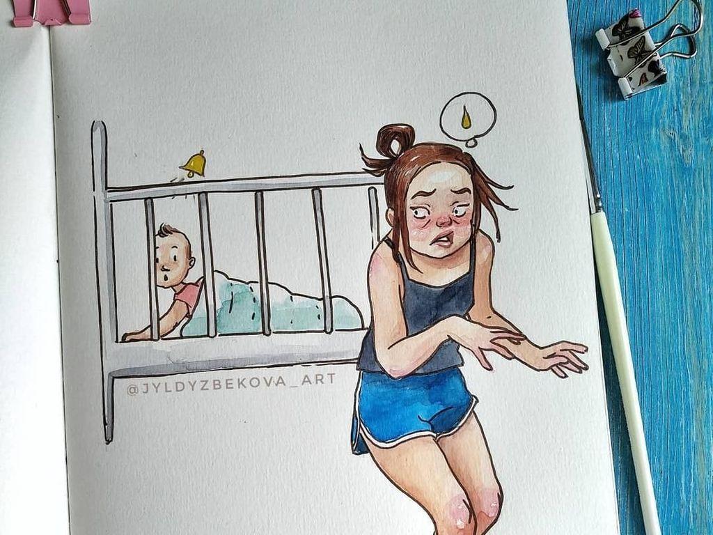 8 Ilustrasi Manis Ini Gambarkan Sulitnya Pekerjaan Jadi Seorang Ibu