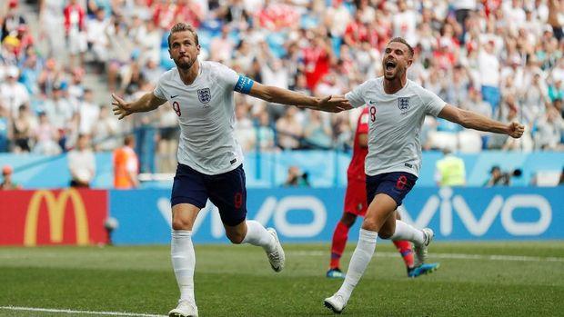 Dua Penalti Kane Bawa Inggris Ungguli Panama 5-0