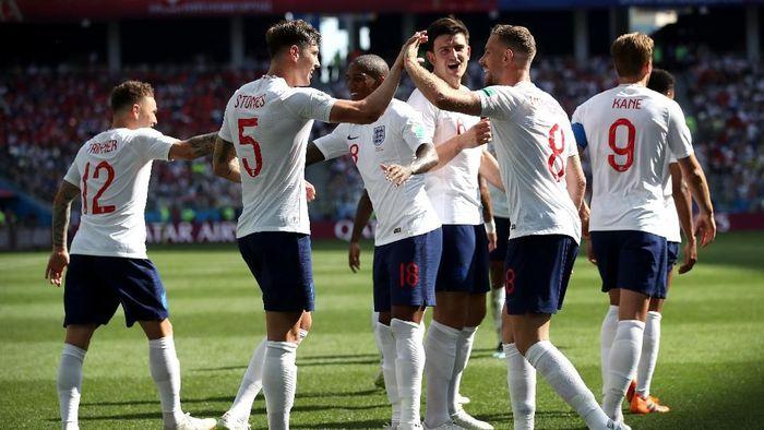 Skuat Inggris zaman now saat pesta gol ke gawang Panama (Foto: Clive Brunskill/Getty Images)