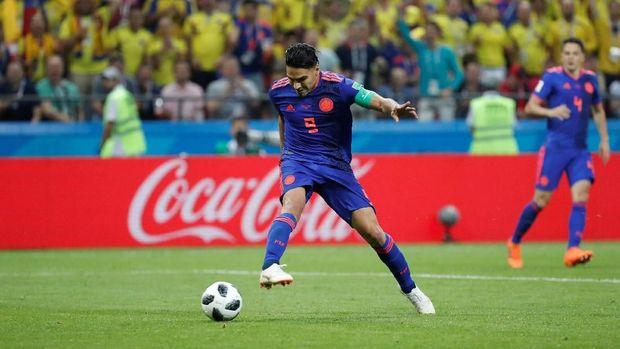 Radamel Falcao cetak gol perdana di Piala Dunia 2018.