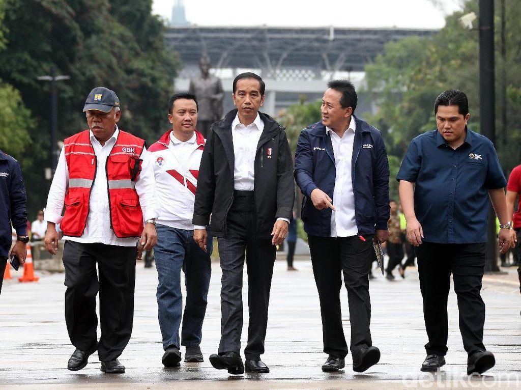 Jokowi Tinjau Kesiapan Venue Asian Games di Jakarta
