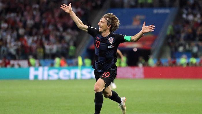 Luka Modric si kapten fantastic Timnas Kroasia (Ivan Alvarado/Reuters)