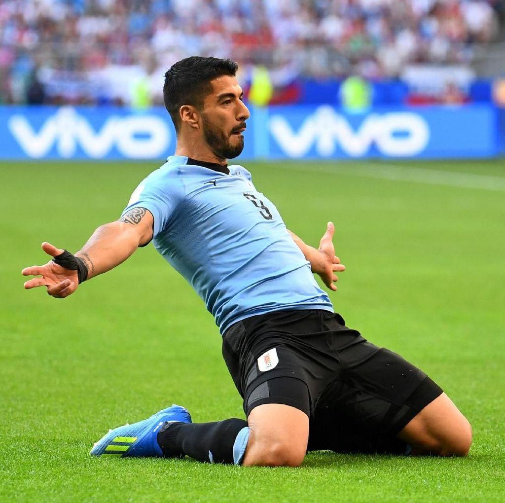 Bikin Gol Lagi, Suarez Jadi Uruguay Tertajam Kedua di Piala Dunia