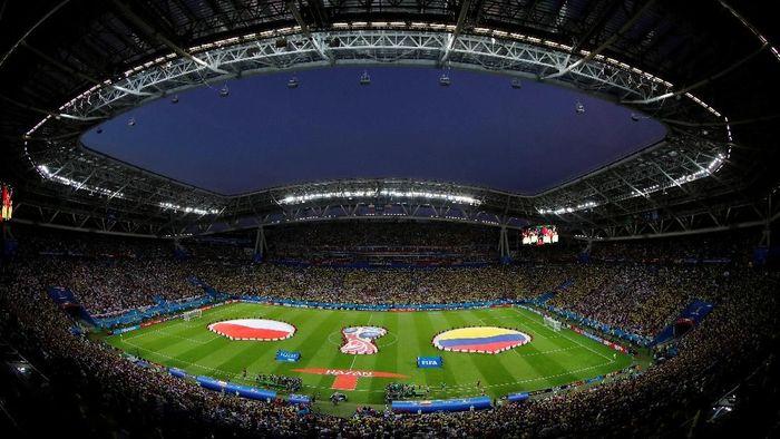 Polandia berhadapan dengan Kolombia pada pertandingan Grup H di Kazan Arena, Kazan, Senin (25/6/2018) dinihari WIB. Kedua tim sebelumnya sama-sama kalah di laga pertama. Foto: Jorge Silva/Reuters