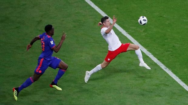 Robert Lewandowski gagal mengantar Polandia melangkah lebih jauh di Piala Dunia 2018.