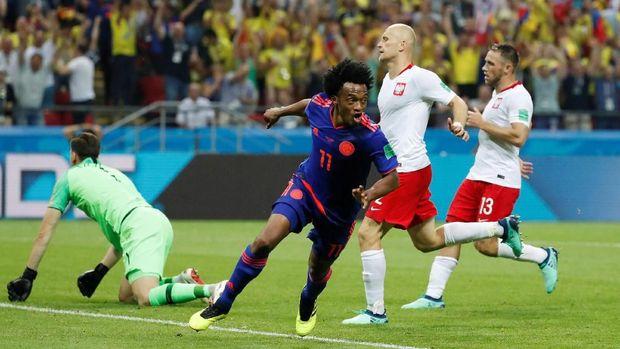 Juan Cuadrado cetak gol ketiga Kolombia.