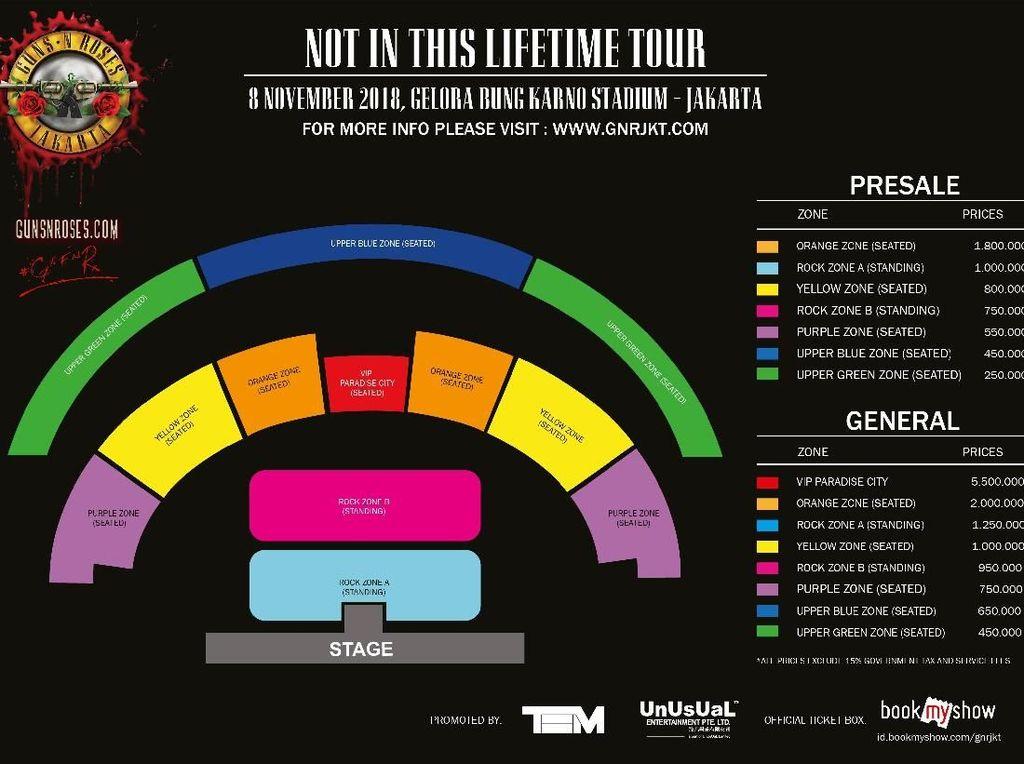 Serbu! Tiket Konser Guns N Roses di Jakarta Dijual Hari Ini