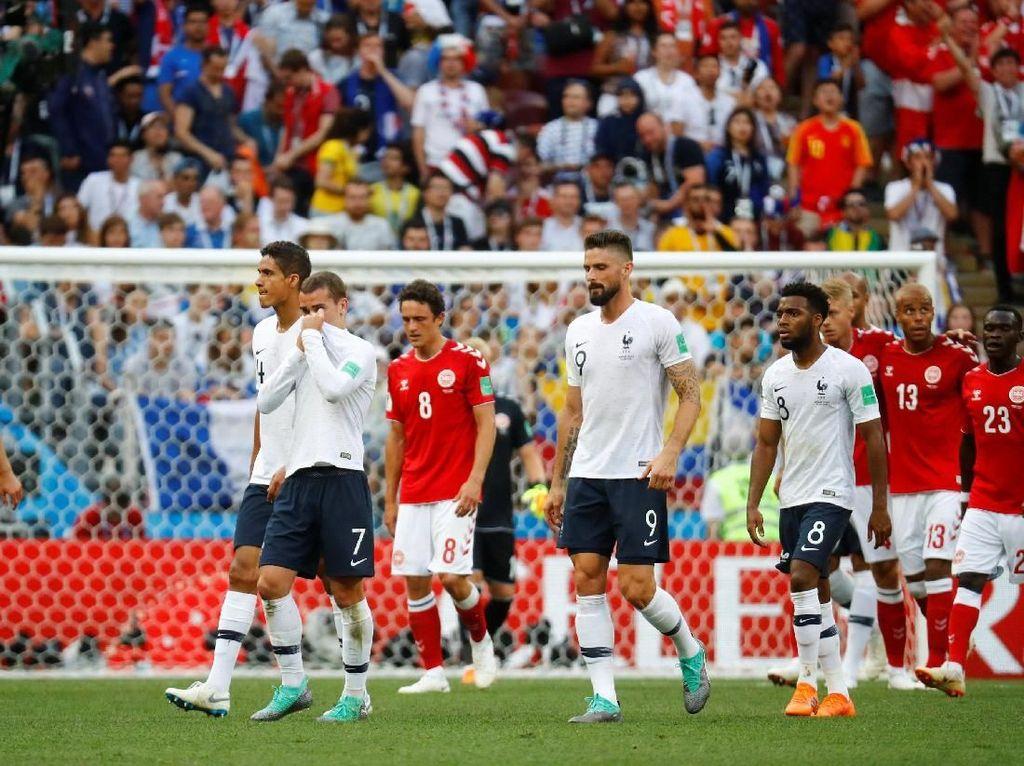 Denmark Vs Prancis Hasilkan Skor 0-0 Pertama di Piala Dunia 2018