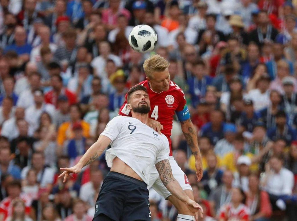 Babak Pertama Usai, Denmark Vs Prancis Masih 0-0