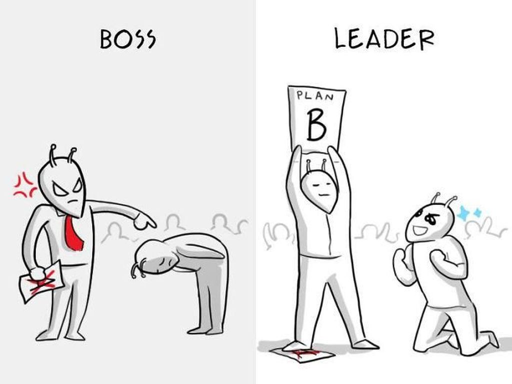 8 Ilustrasi Ini Gambarkan Perbedaan Bos dengan Seorang Pemimpin