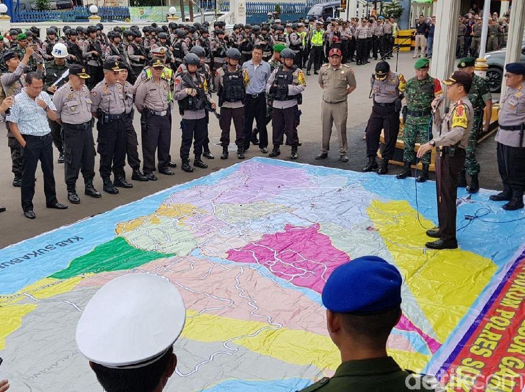 Jurus TNI-Polri Sukabumi Halau Kerusuhan Saat Pencoblosan