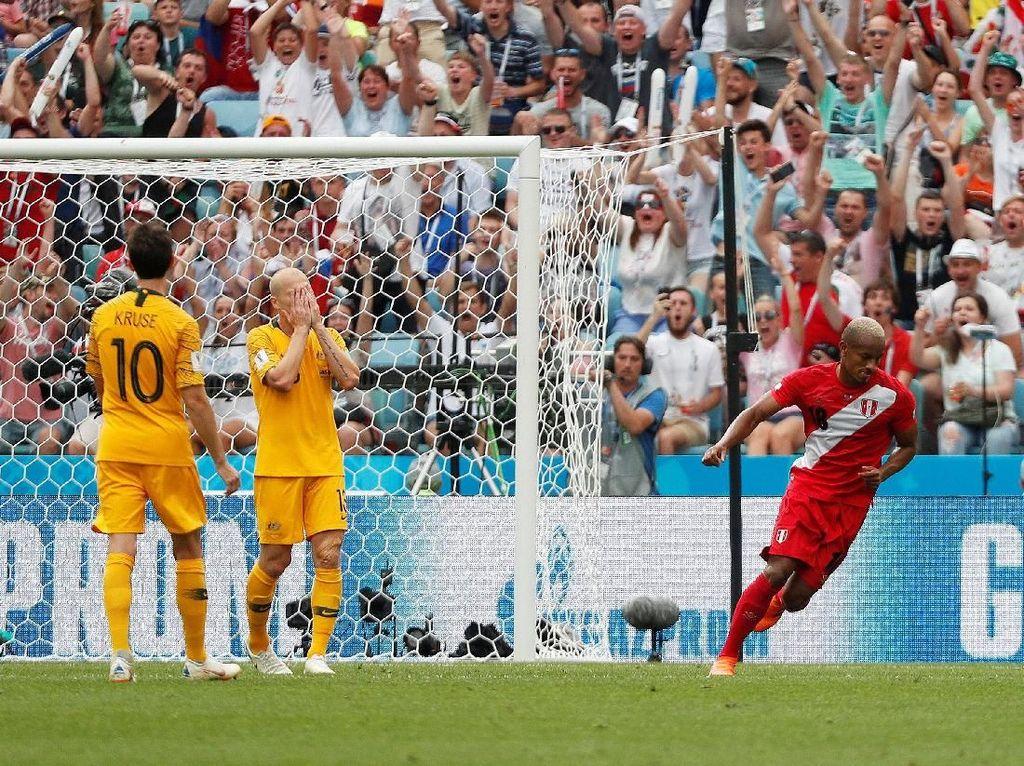 Turun Minum, Australia Tertinggal 0-1 dari Peru