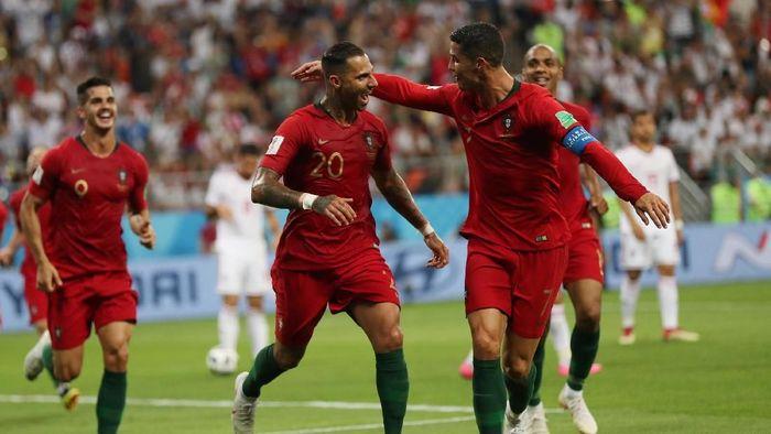 Portugal Unggul atas Iran di Babak Pertama. (Foto: Ricardo Moraes/Reuters)