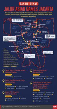 Ruas Jalan yang Kena Dampak Perluasan Ganjil Genap Jakarta