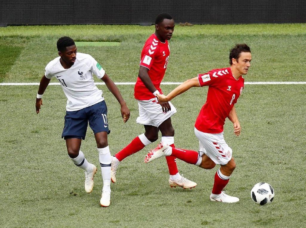 Hasil Pertandingan Piala Dunia 2018: Denmark vs Prancis Skor 0-0