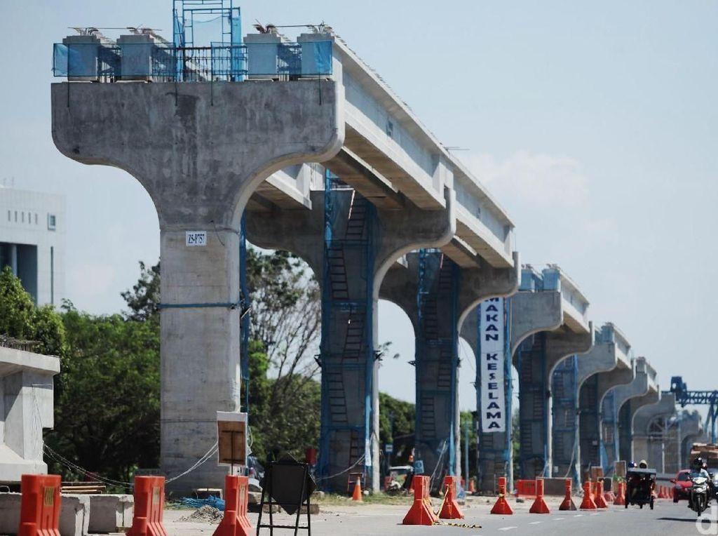 Dikritik Fahri Hamzah, Ini Lho Penampakan Tiang-tiang LRT