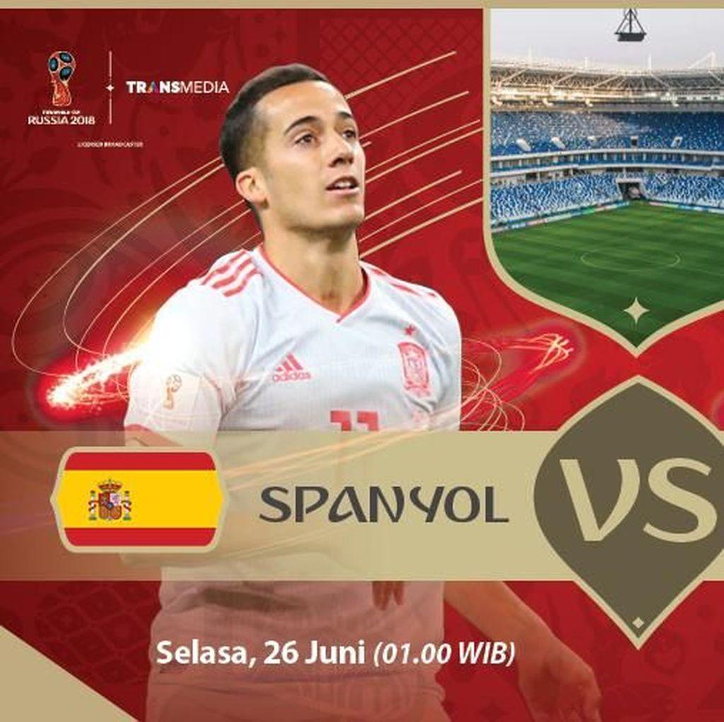 Live Report Piala Dunia 2018: Spanyol vs Maroko