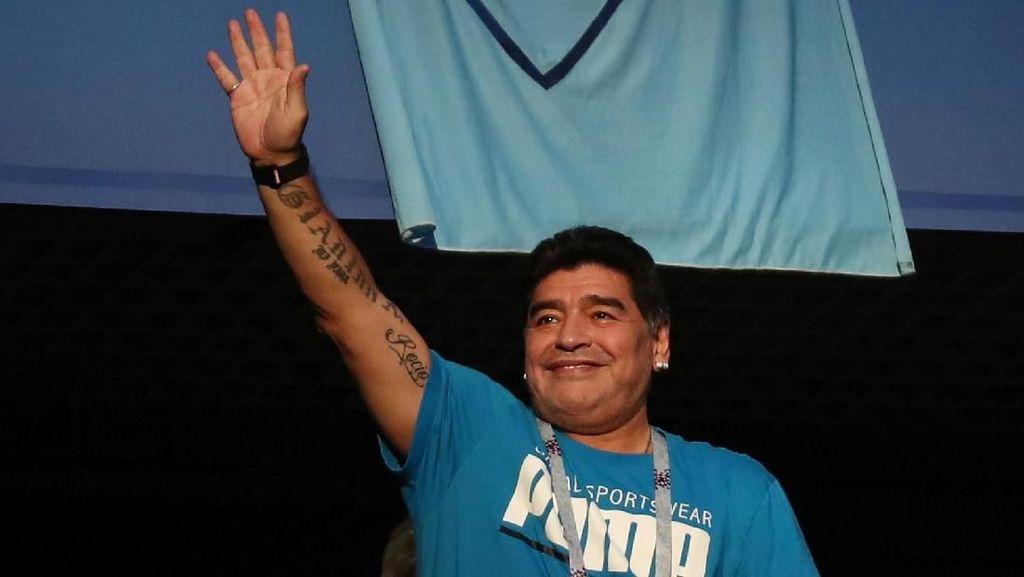 Maradona Dilarikan ke RS Usai Argentina Menang, Ini Riwayat Penyakitnya