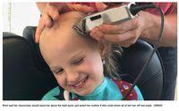 Kisah Gadis Kecil yang Berani Botaki Kepala karena Dibully