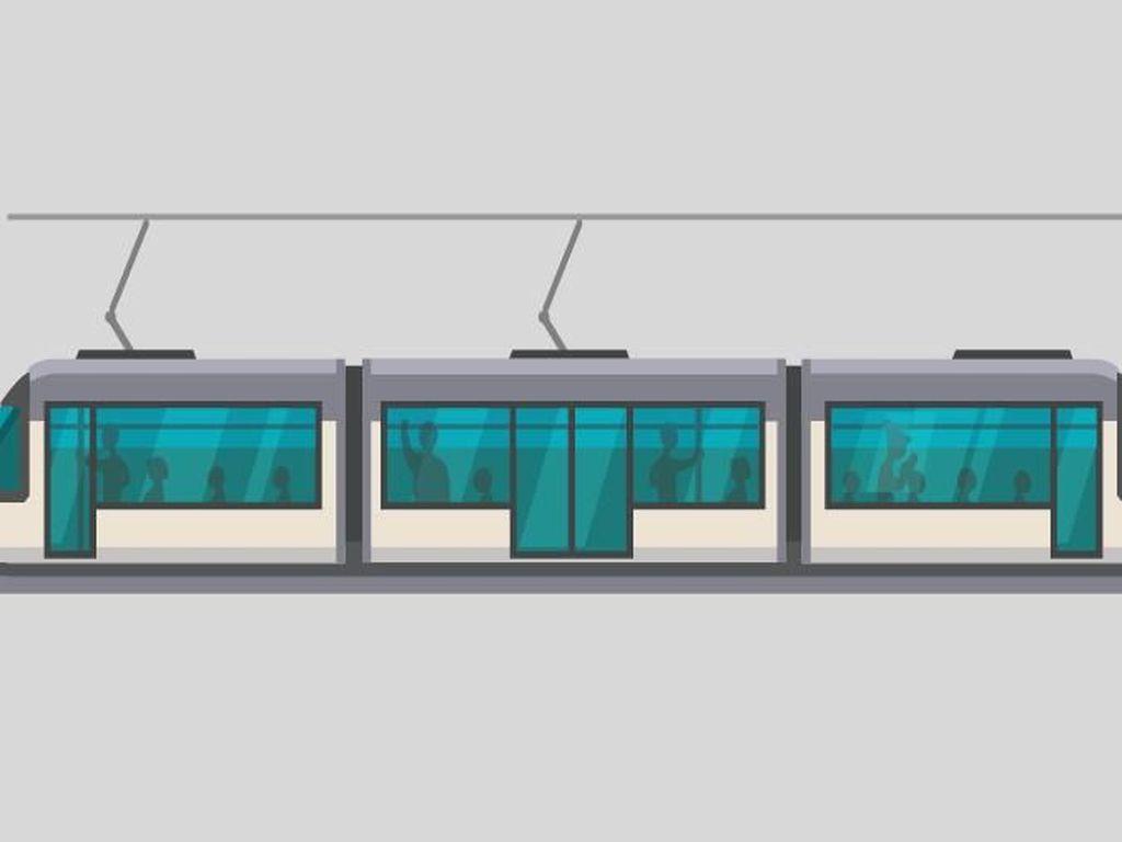 LRT Jakarta Uji Coba Angkut Penumpang Sore Ini