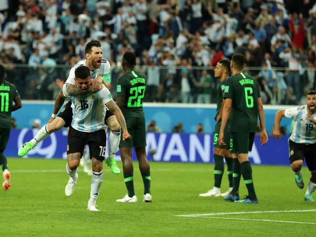 Hasil Pertandingan Piala Dunia 2018: Nigeria Vs Argentina Skor 1-2